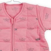Sac de dormit roz 4 anotimpuri cu maneci detasabile Little Boats Jollein 90 cm
