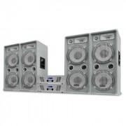 Impianto set dj pa 4 casse 2 amplificatori finali 4000W