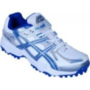 Proase Stud Cricket Shoes(White, Blue)