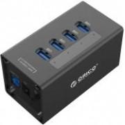 Orico 4-portni USB3.0 hub sa vanjskim napajanjem, crni (ORICO A3H4-V2-EU-BK)