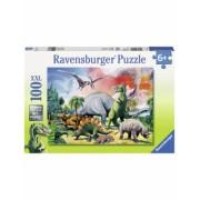 Puzzle Printre Dinozauri, 100 Piese Ravensburger