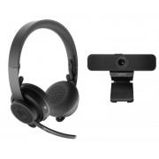 HEADPHONES, LOGITECH Zone, Wireless, Microphone, Graphite and C925e Webcam (991-000311)