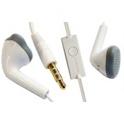 YS Handsfree Universal Earphone with 3.5 mm Jack and Mic-White Compatible for Samsung Galaxy S3