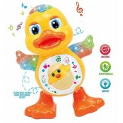 Dancing Duck Toy with Reflected Lights Wonderful Music for Kids Battery Operated Multicolor