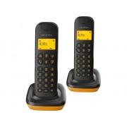Alcatel Teléfono Fijo ALCATEL D135 Duo Negro y Naranja