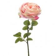 Geen Lichtroze roos kunstbloem 66 cm