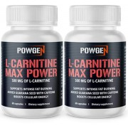 PowGen L-Carnitina Max Power - 1+1 GRATIS - cápsulas que destruyen la grasa. Para 2 meses.