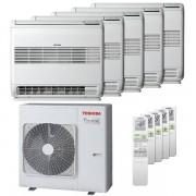 Toshiba Condizionatore Toshiba Console J2 Penta Split 9000+9000+12000+12000+12000 Btu Inverter A++ Unità Esterna 10,0 Kw (RAS-5M34U2AVG-E-RAS-B10J2FVG-E-5-D20250)