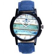 Wooden Wall Denim Designer Analog Wrist Watch By Google Hub