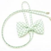 """femeiesc fluture Willsoor 7871 cu alb și verde zaruri """"hârtie cu pătrățele"""""""