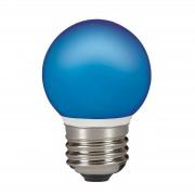 E27 0.5 W LED golf ball bulb, fairy lights, blue