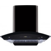 Elica WD HAC TOUCH BF 60 BK with Installation Kit Included Auto Clean Wall Mounted Chimney(Black 1200 CMH)