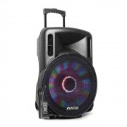 """FT15LED Altifalante Activo 15"""" 800W BT/USB/SD/AUX-In LED Microfone Trolley"""