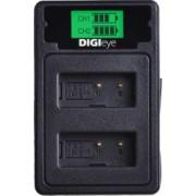 Incarcator DigiEye DUAL USB cu LCD pentru acumulator Canon LP-E17