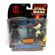 Star Wars: Episode 1 - The Final Lightsaber Duel (Obi - Wan vs. Darth Maul) Action Figure 2 - Pack by Hasbro [Parallel import goods]