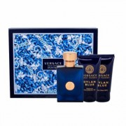 Versace Pour Homme Dylan Blue 50Ml Edt 50 Ml + Shower Gel 50 Ml + Aftershave Balm 50 Ml Per Uomo (Eau De Toilette)