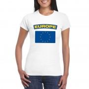 Bellatio Decorations Europese vlag shirt wit dames