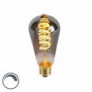 Calex E27 LED ST64 Smoke Spiral Filament 4W 100LM 2100K