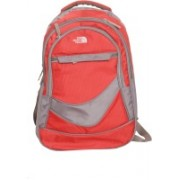 Oril North Face 18 inch Laptop Backpack(Red, Grey)
