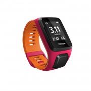 TomTom Runner 3 Cardio plus Music Small Strap - Mултиспорт GPS смарт часовник с вграден музикален плейър (розов-оранжев)