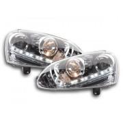FK-Automotive luce di marcia diurna fari Daylight VW Golf 5 tipo 1K anno di costruzione 03-08 cromato