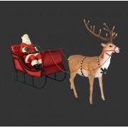 H-120025 Santa for Sleigh Jumbo - Kerstman