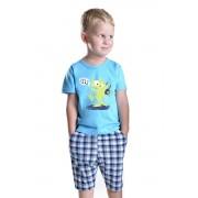 Pijama băieți cu dragon Julec albastră 116