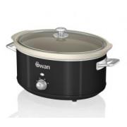 Oala electrica Slow cooker Swan SF17031BN, Retro, Capacitate 6.5 Litri, Vas ceramic,Putere 320W
