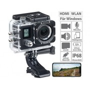 Einsteiger-4K-Action-Cam mit 2 Displays, Full HD bei 60 B./Sek., IP68 | Action Cam