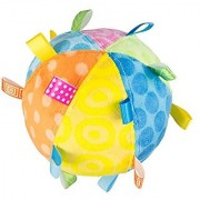Mary Meyer Taggies Plush Toss the Taggies Chime Ball Colors