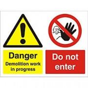 Unbranded Warning Sign Demolition PVC 45 x 60 cm