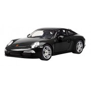 Rastar 1:24 Porsche 911 with Opening Doors and Detailed Interior and Exterior, Black, TOYSHINE - 60