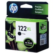 Cartucho HP 122XL Jato de Tinta Preto 8ml CH563HB