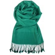 Milano elegantní jednobarevná šála zelená
