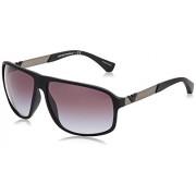 Emporio Armani Men's Gradient EA4029-50638G-64 Black Square Sunglasses