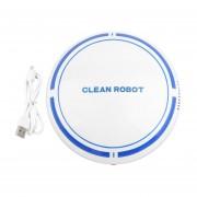 EY Barrido Inteligente Recargable Robot Limpiador De Máquinas De Aspiración Sweep Slim-Blanco Con Azul Y Rojo