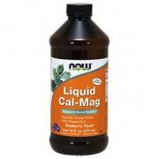Now folyékony Cal-Mag és D-vitamin kék áfonya ízű készítmény - 473 ml