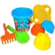 Детски комплект с кофичка и формички за пясък, 3 цвята, Polesie, 411065