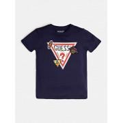 Guess T-Shirt Z Trójkątnym Logo I Naszywkami
