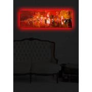Tablou pe panza iluminat Shining, 239SHN1262, 30 x 90 cm, panza