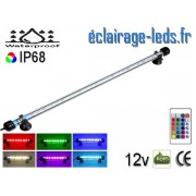 Tube LED RGB 5W Submersible 48cm Aquarium IP68 12V ref tla-09