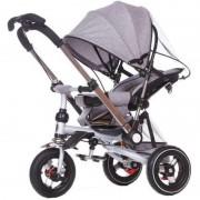 Tricicleta multifunctionala cu maner reversibil, pliabila si cu pozitie de somn, Trike PRO700, Grey