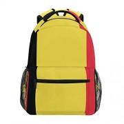 ILEEY Mochila oficial de la bandera belga de Bélgica para escuela, bolsa de ordenador para viajes, senderismo, camping, para niñas, niños, hombres y mujeres, Multi001, Grande