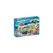 Playmobil - City Life Vehicle World Petrol Station With Car And Shop Playset
