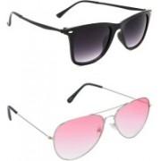 Hrinkar Wayfarer Sunglasses(Grey, Red)