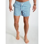 Just Junkies Sam Stripe Shorts Mid Blue S