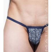 Mategear Shi Woo Thin Nylon Printed Signature Series Sexy Mini Bikini Underwear Denim 2061206