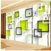 lhflhi Custom Photo Wallpaper Modern 3D Stereoscopic Mural Bird Woods Art Wallpaper Living Room TV Background Wall Papers Home Decor,350 * 245cm