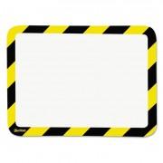 High Visibility Safety Frame Display Pocket-Magnet Back, 10 1/4 X 14 1/2, Yw/bk