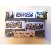 Rockhound's 1st Choice Rock Tumbler Refill Grit Kit Polishes 3 Lbs of Rocks-Use in Thumlers,Lortone & Chicago